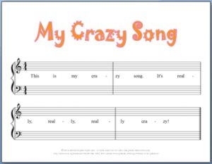 9 FREE Printable Beginning Piano Composition Worksheets | Music ...
