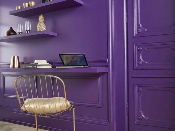 déco mur violet
