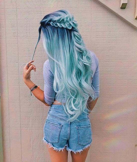 29 Hair Dyes Awesome Ideas For Girls Modren Villa Hair Styles Long Hair Styles Hair Color Blue