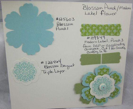 Blossom Punch/Modern Label Punch flower