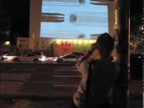 Guerilla Video Projection + Street Marketing in New York City for ...