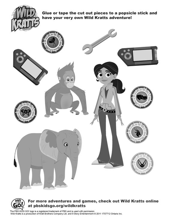 wild kratts coloring pages wild