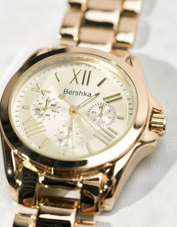 Metallic watch - Watches - Bershka Croatia