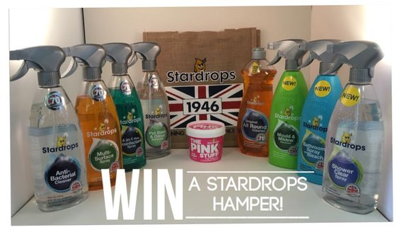 Want to win a Stardrops cleaning hamper? Everything you need for a sparkling clean home :) you can enter at www.facebook.com/cleanbeewales  Good luck!
