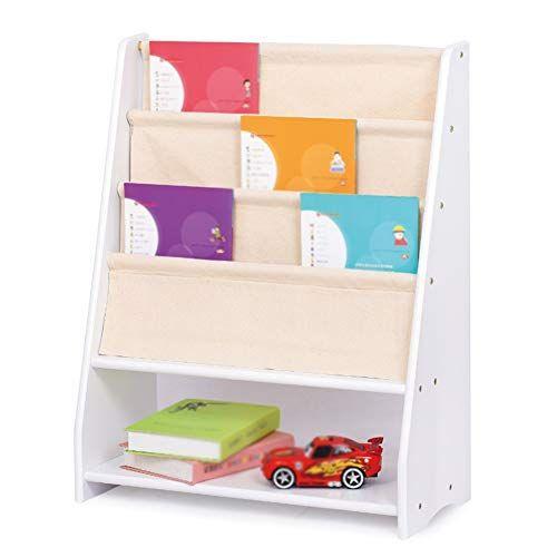 Gaoqqi Sling Bookshelf Childrens Colourful Layering Classification Book Shelf Removable Storage Box Solid Wood Bookshelf Childrens Floor Childrens Book Shelves
