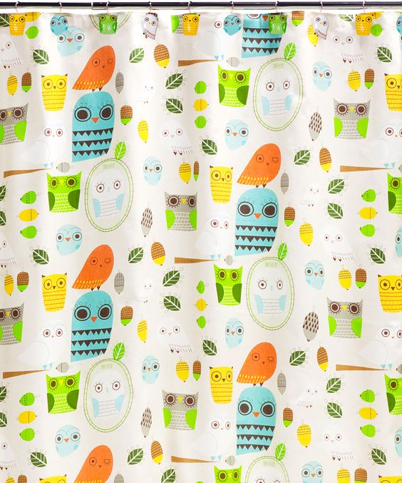 Give a Hoot Shower Curtain & Rug Set
