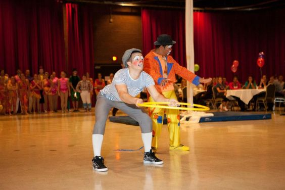 These Clowns are performing at ISU's Homecoming Carnival event