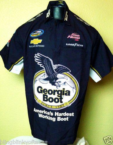 Kevin harvick pit crew shirt georgia boot nascar truck for Kevin harvick pit shirt