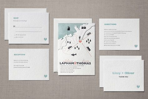 destination letterpress wedding suite // minted