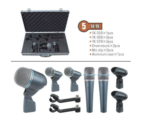 $254.00 (Buy here: http://appdeal.ru/dxr3 ) 5-piece Drum Mic Set  musical instrument jazz drum microphone TK-5B for just $254.00