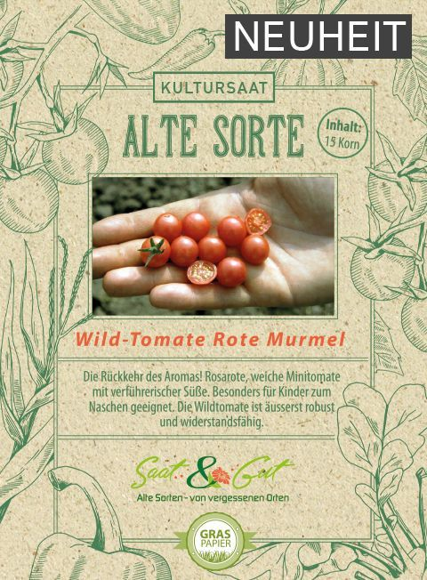 Alte Sorte Bio Wildtomate Rote Murmel Tomaten Saatgut Bio