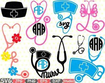 Nurses Frame Silhouette Nurse Stethoscope Doctor Clipart Heart Love Medic 676sv Clip Art Nurse Stethoscope Nurse