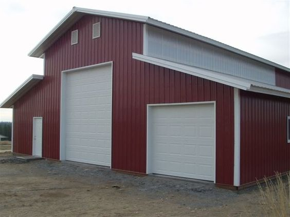40 x 60 pole barn home designs 30x40 pole barns kits hd for Metal barn designs
