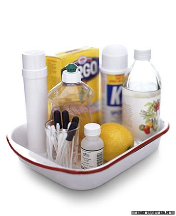 Stain treatment kit for laundry room