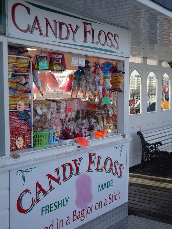 Candy Floss kiosk on Brighton Pier - Taken from http://louiseswestoxonworld.blogspot.co.uk/