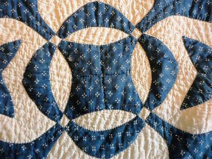 Detail, Antique Hand Stitched Quilt Blue White Upstate New York | eBay, joesattic