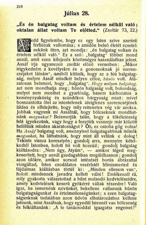 Spurgeon: Harmatgyöngyök...jul 28