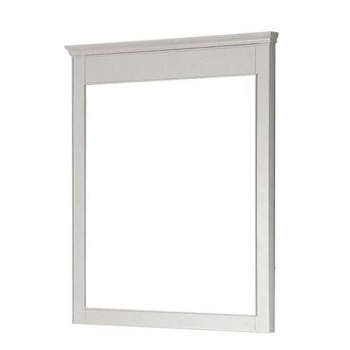 Avanity Windsor M30 Wt Windsor 30 In X 36 In Mirror In White Contemporary Modern In 2020 Beveled Edge Mirror Rectangular Bathroom Mirror Frames On Wall