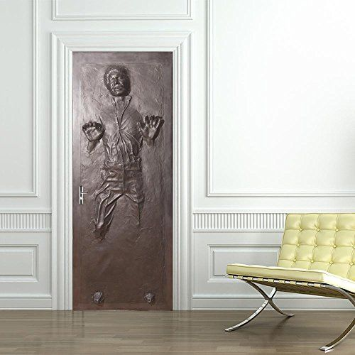 Han Solo Carbonite Door Wrap Decal Wall Sticker Mural Home Decor Star Wars D187 200x80 Star Wars House Decor Star Wars Room Decor Star Wars Room