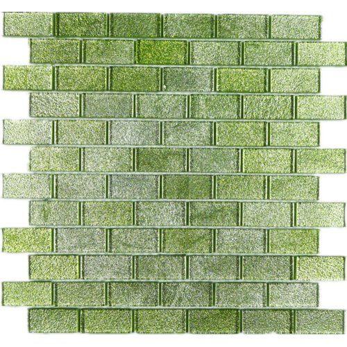 Wall Paper Underneath 1 X 2 Glass Mosaic Tile Mosaic Glass