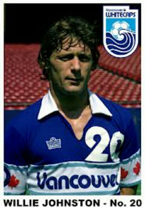Willie Johnston of Vancouver Whitecaps in 1982.
