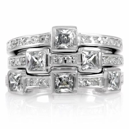 Stackable 3 Band Ring