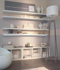 Id e d co petit salon meubles modulables id es d co pinterest bureaus shelves and shelf wall for Idee salon