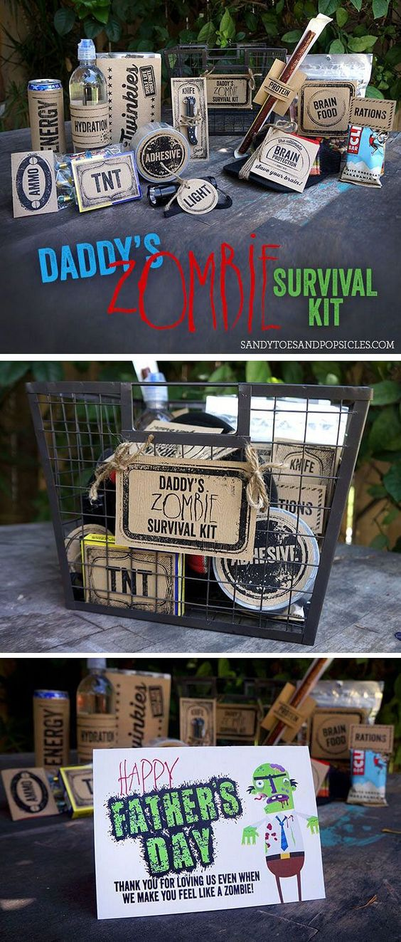 Daddy's Zombie Survival Kit | Father's day, Free ...