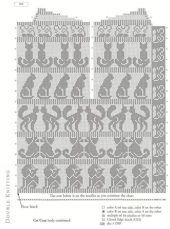 Blusa gatos en fila. Filet crochet gatos http://knits4kids.com/collection-en/library/album-view?aid=10177