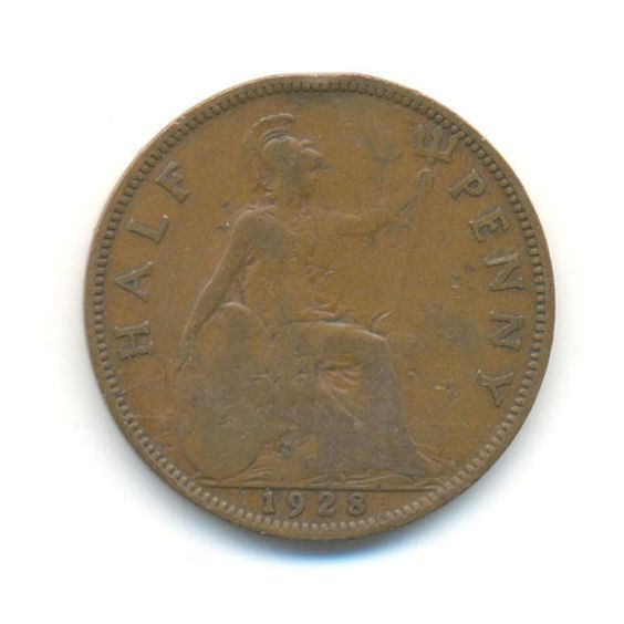 George V Half Penny 1928 Coin Code: JMC0544 by COINSnCARDS on Etsy