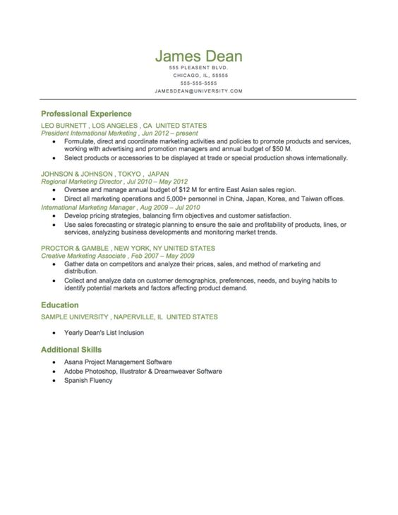 Example Of A Executive Level Reverse Chronological Resume Download - housekeeping resumes