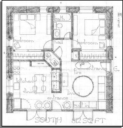 4 bedroom straw bale plans Square House Plans on Straw Bale