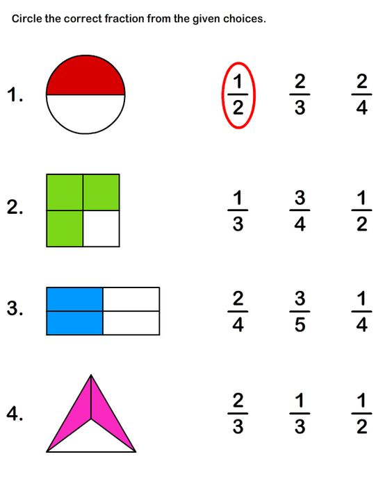 Fractions Worksheets math Worksheets grade2 Worksheets – Basic Math Fractions Worksheets