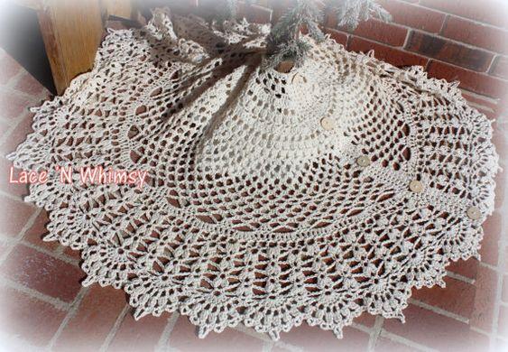 Christmas In July Tree Skirt Lace Crochet Pattern 60 Inch