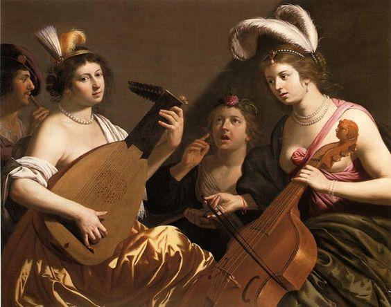 Jan Hermansz van Bijlert (Dutch painter, c 1597–1671), The Concert, 1630s: