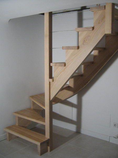 08-07 escalier 1/4 tournant sur crémaillère « espace bois | stairs