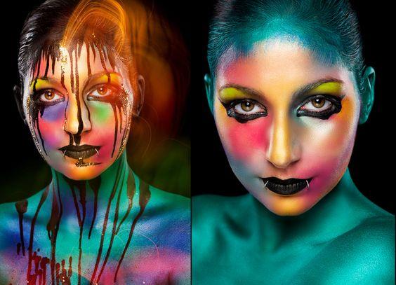 Modèle : Tiphaine Muller / Photo : Cédric Bourion / Maquillage : Stéphanie Bernard / Produits utilisés : SB Make-Up, Diamond FX et Mehron / eShop : www.Majama.fr