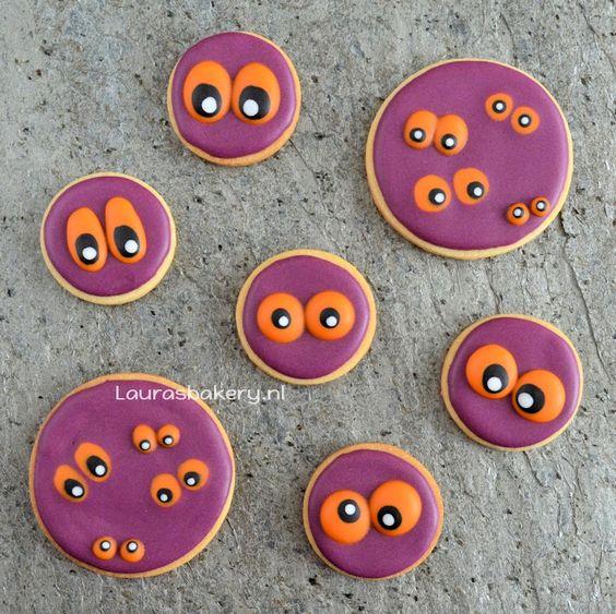 Monster ogen koekjes - monster eye cookies for halloween