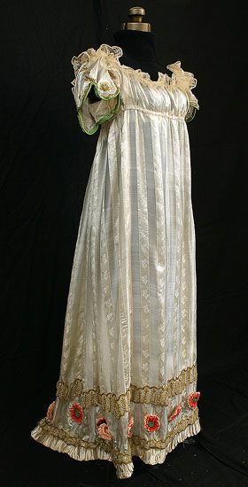 """Full dress"" was the most formal kind of dress in a Regency Lady's wardrobe. Full dress was worn for the most formal occasions — evening concerts and card parties, soirees, balls, and court occasions. ""Evening dress"" referred to outfits suitable only at evening events, but was a specific subset of ""full dress""."