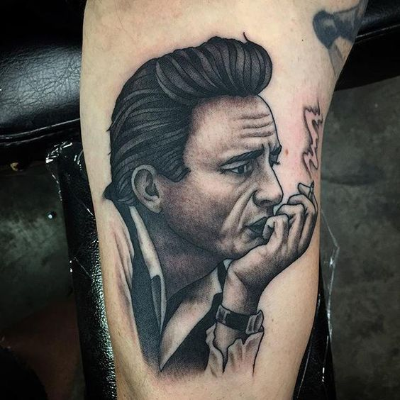 15 Emphatic Johnny Cash Tattoos - Particle News