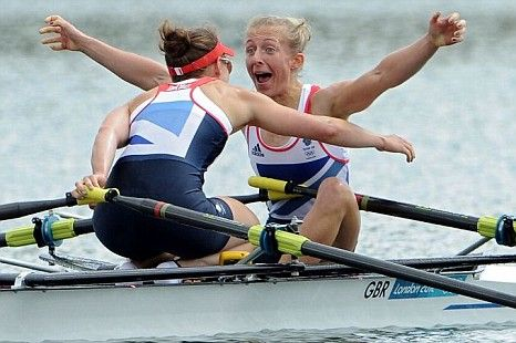 Katherine Copeland & Sophie Hosking. Gold, lightweight double sculls.  London 2012 Olympics rowing