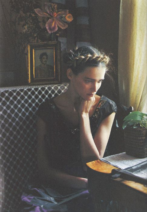Carmen Kass by Yelena Yemchuk for Vogue Nippon October 2005: Twistbraidhairstyles 13Faqs, Bohemian Hairstyles, Twist Braid Hairstyles, Carmen Goldsmith, Hair Style, Hairstyles Ideas, Yelena Yemchuk, Twistbraidhairstyles Blogspot, Carmen Kass