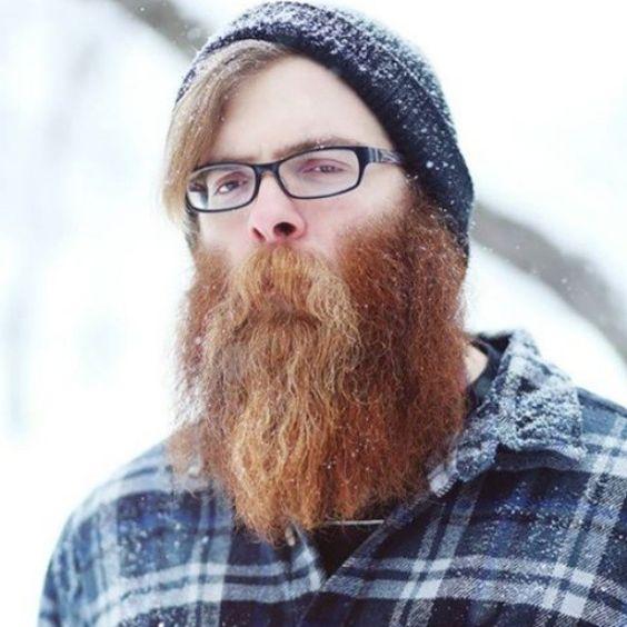 Sensational Taranislegend Full Thick Red Beard In The Snow Mustache Snowy Hairstyles For Men Maxibearus