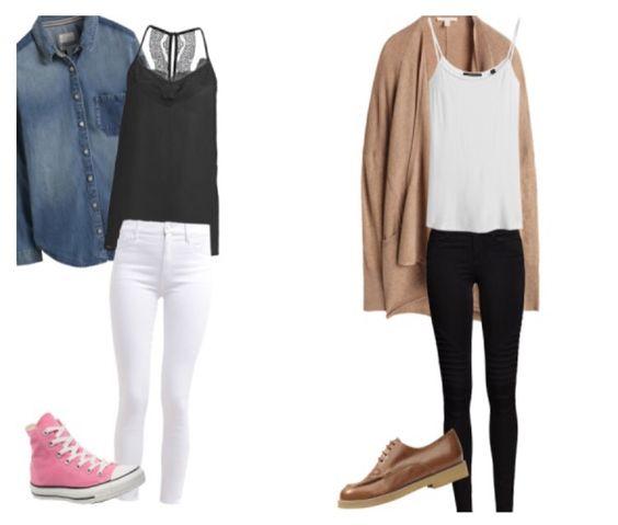Tages Outfit für Schule oder um mit Freunden etwas zu unternehmen