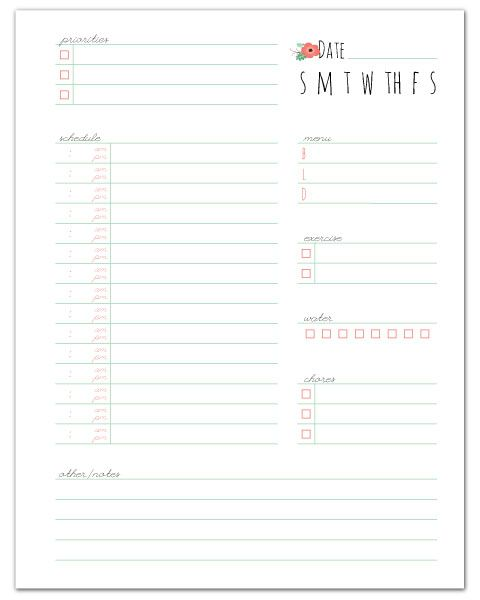 Daily Planner Free printable, Planners and Management - day to day planner template free