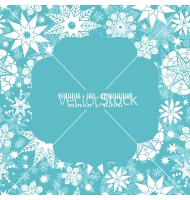 Decorative frost christmas snowflake silhouette vector by Oksancia on VectorStock®