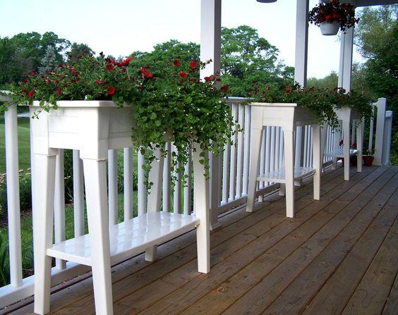 Amazon.com : Adams Manufacturing 9303-01-3700 36-Inch Deluxe Garden Planter, Sage Green : Plant Shelf For Outdoors : Patio, Lawn & Garden