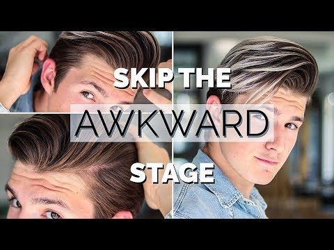 How To Style Your Hair While Growing It Men Hairstyle Tutorial 2018 Youtube Growing Hair Out Men Hair Tutorial Growing Out Hair
