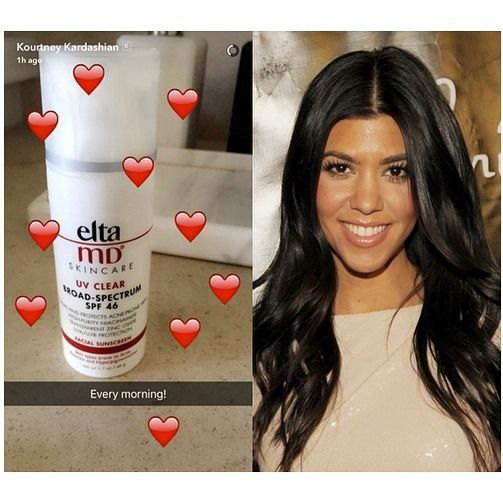 214 Likes 22 Comments Eltamd Skin Care Eltamdskincare On Instagram Guess Who Is Keeping Up With Her Sunscreen P Sunscreen Protection Skin Care Kourtney