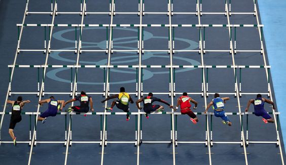 Men's 110m Hurdles Final on Day 11